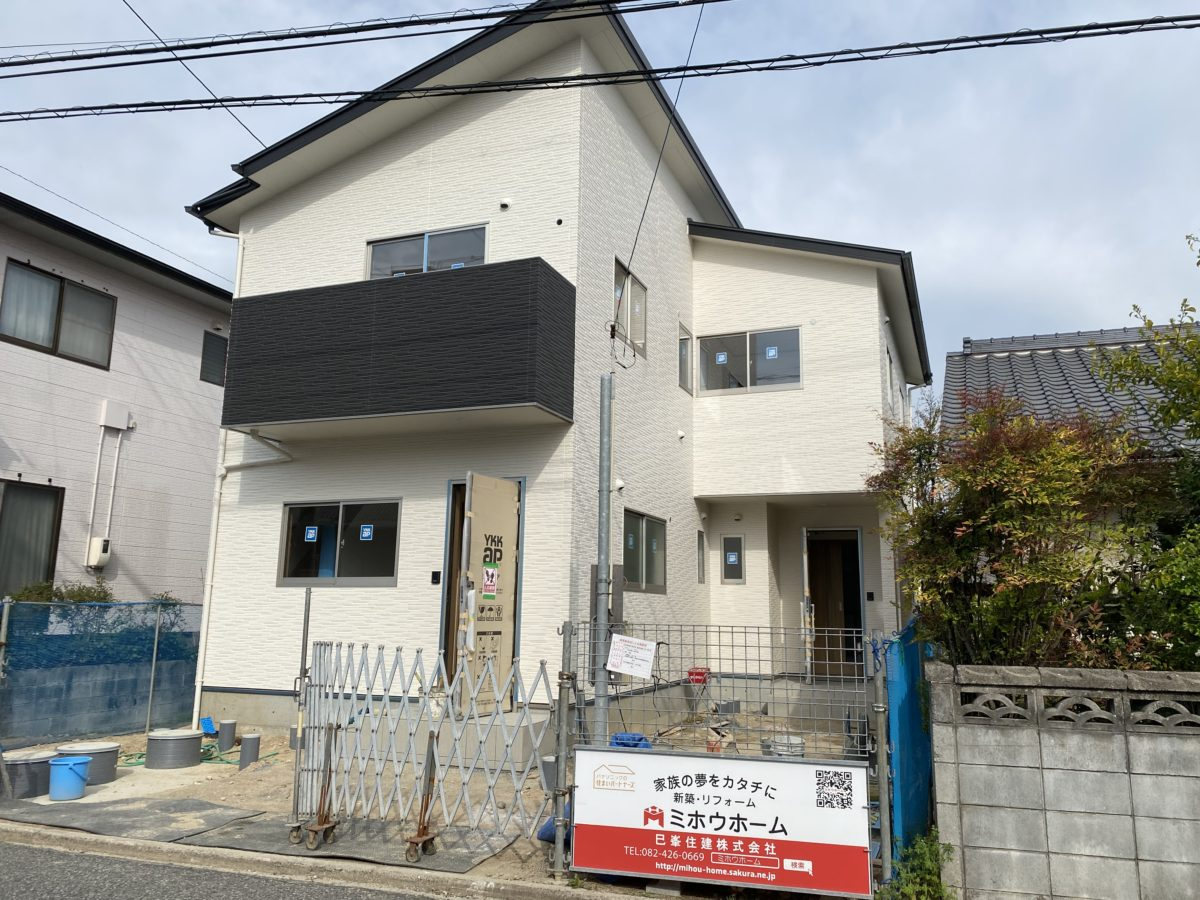 新築:テラスハウス(2軒)東広島市西条町吉行(西条インターより🚗約5分)